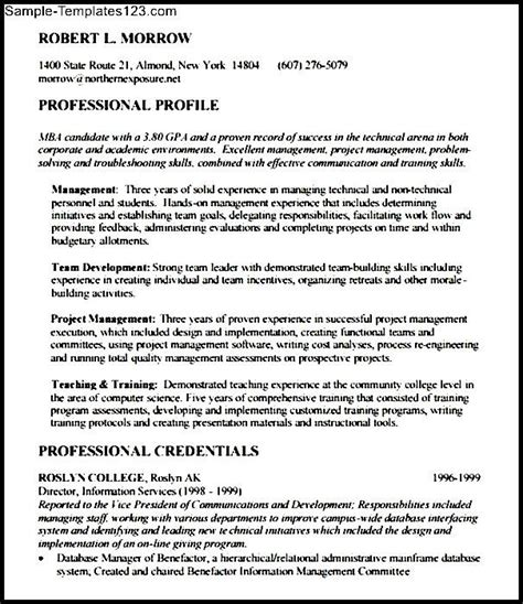 Mit Mba Cover Letter Exle by Sle Mba Resume Template Free Sle Templates