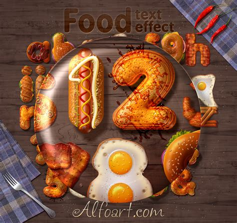 photoshop tutorial food typography fast food text effect on behance