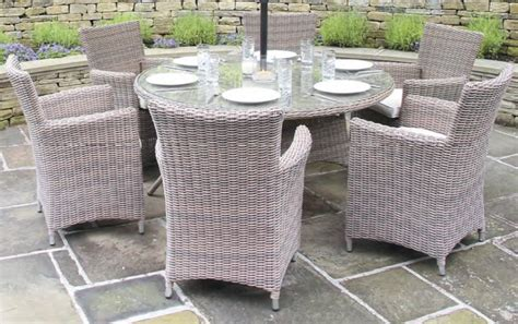 Cambridge Chagne 6 Seater Weather Resistant Rattan Rattan Patio Dining Set