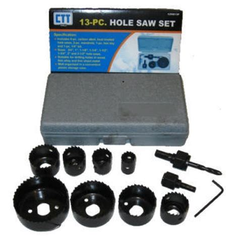 Promo Holesaw Kit Saw Kit Set 13 Pcs Mata Bor Pelubang Kayu Pipa 13pc 3 4 quot to 2 1 2 quot saw set door knob lock drill ebay