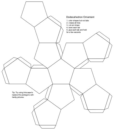 Dodecahedron Template blank dodecahedron printable template free printable