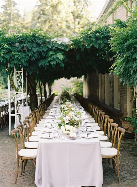 elegant backyard wedding reception elegant garden wedding reception real weddings oncewed com