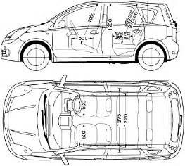 nissan car blueprints die autozeichnungen les plans