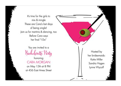 cocktail invitation template cool cocktail pink birthday invitations by invitation