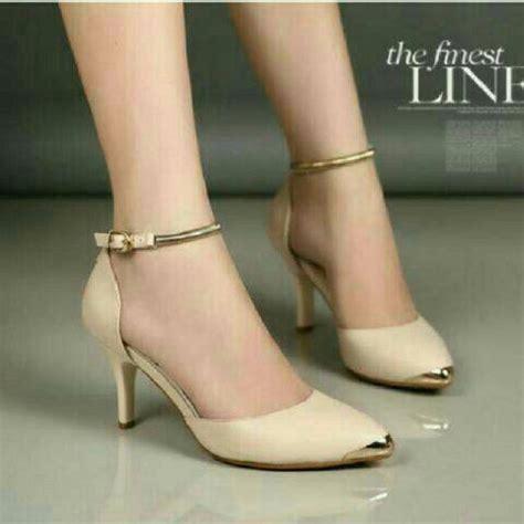 Sepatu Sandal Heels Wanita Iskh35 Murah Terbaru Sepatu High Heels Kerja Kantor Cantik Model Terbaru Murah