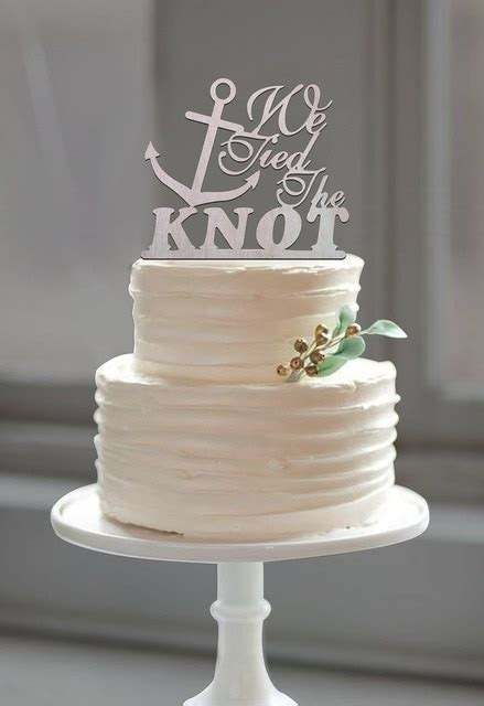 wedding anchor cake topper quot the knot quot quote for nautical wedding theme casamento