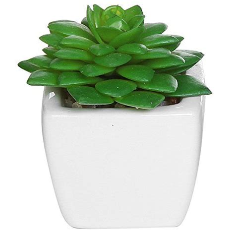 mini potted plants rokacola set of 4 modern white ceramic mini potted artificial