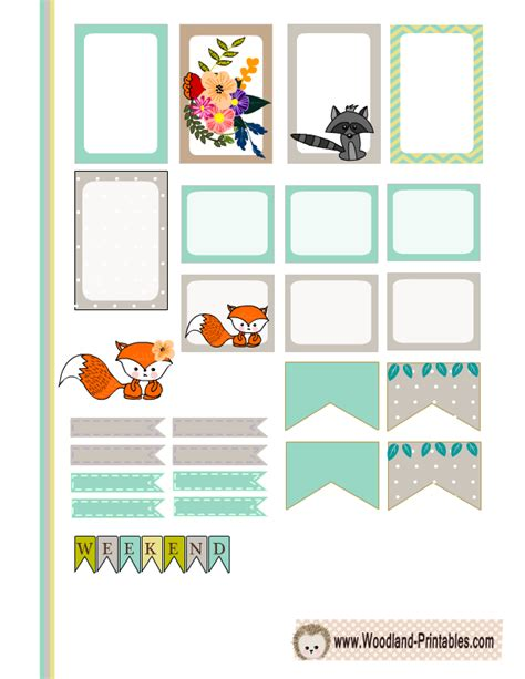 free printable animal labels free printable woodland planner stickers