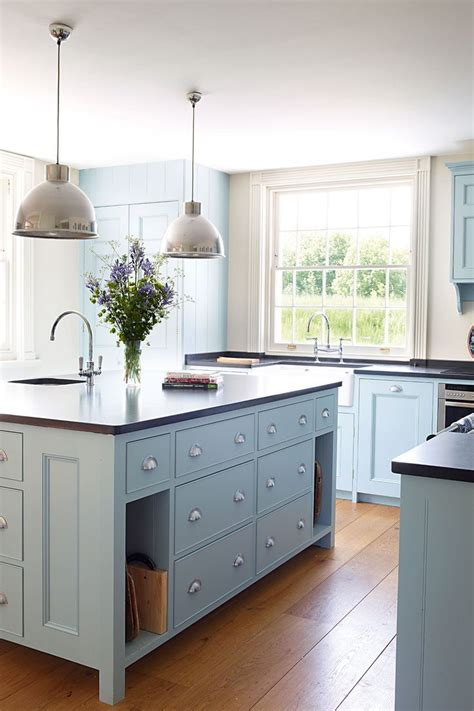 Light Blue Kitchen Cabinets by 40 Colorful Kitchen Cabinets To Add A Spark To Your