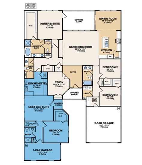 lennar next gen floor plans genesis next gen the home within a home by lennar