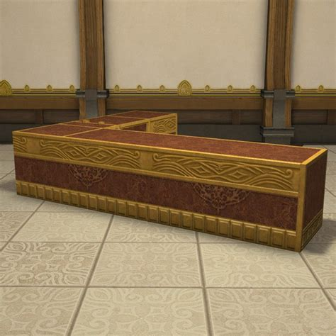 Home Interior Decoration gold saucer corner counter ffxiv housing table