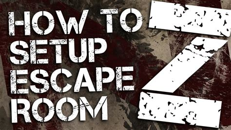 printable escape room kit how to setup the escape room z party kit youtube