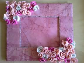 Handmade Photo Frame - dreamz handmade cards pink roses photo frame