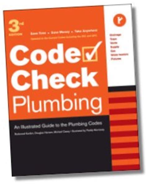 Code Check Plumbing by Plumber S Handbook Revised