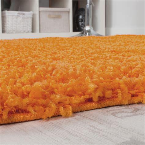 runder langflor teppich runder teppich langflor shaggy hochflor teppiche orange