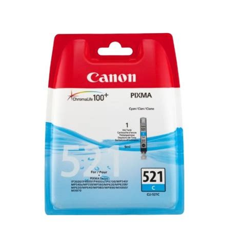 Canon Cyan Ink Cartridge Cli821c canon cli 521c cyan ink cartridge 2934b001