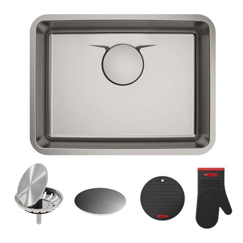 25 stainless steel kitchen sink kraus dex undermount stainless steel 25 in single bowl