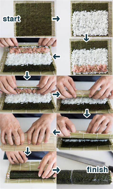 Step By Step On How To Make A Paper Airplane - how to make sushi with visual guide fresh tastes