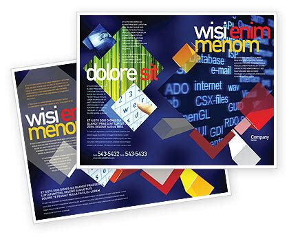 brochure layout terminology computer terms brochure template design and layout