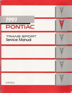 free service manuals online 1994 pontiac trans sport on board diagnostic system 1991 pontiac trans sport factory service manual