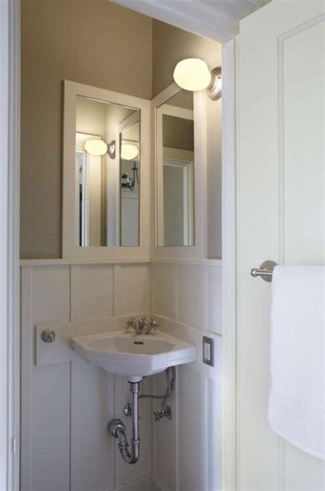 Corner Powder Room Sink Corner Sink Small Guest Bathroom Home Pinterest
