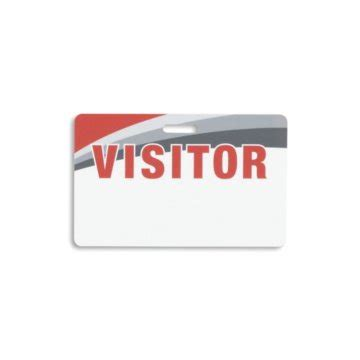 A Visitor - re writable visitor card
