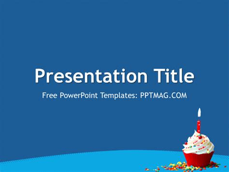 free birthday powerpoint template pptmag