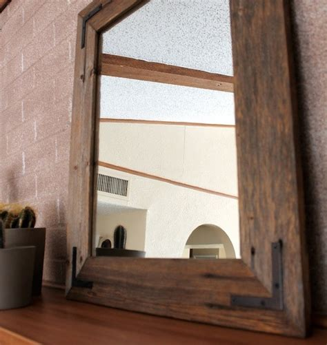 wood frame bathroom mirror reclaimed wood mirror 18x24 bathroom mirror wood