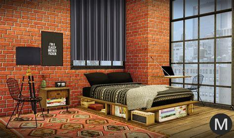 industrial rustic bedroom conversion  maxims liquid sims