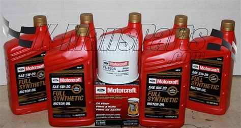 ford synthetic change motorcraft 5w 20 synthetic motor change kit f150