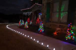 led outdoor christmas lighting traditional landscape