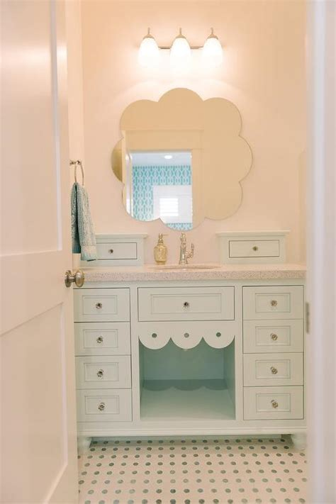 green vanity bathroom mint green bathroom vanity with mint green dot tiles contemporary bathroom