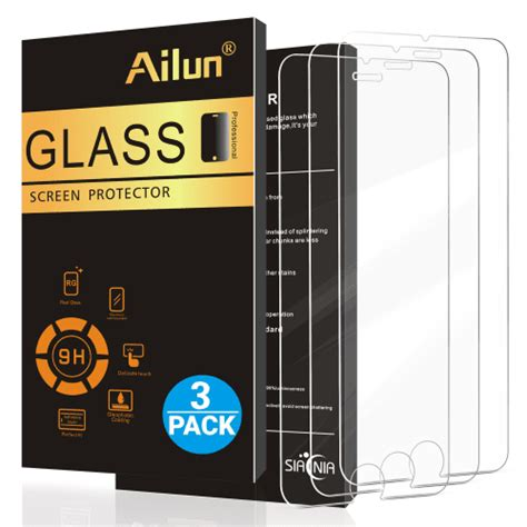 Tempered Glass 5d Iphone 7 Plus 55 Screen Protector Warna iphone 8 plus 7 plus screen protector 5 5inch 3pack by ailun 2 5d edge tempere ebay