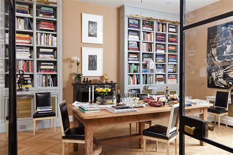 nate berkus office hardwood herringbone floor eclectic den library office