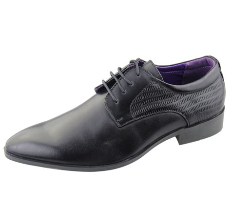 mens brogues shoes office casual wedding formal smart
