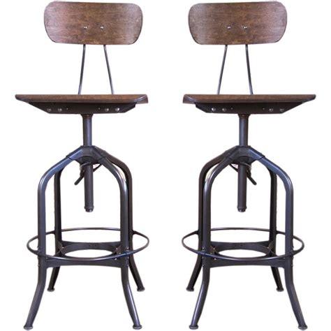 Bent Plywood Bar Stool by Pair Of Metal Wood Bent Plywood Toledo Bar Stools