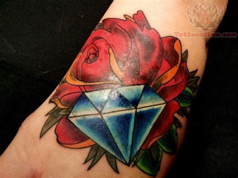 rose with diamond tattoo meaning