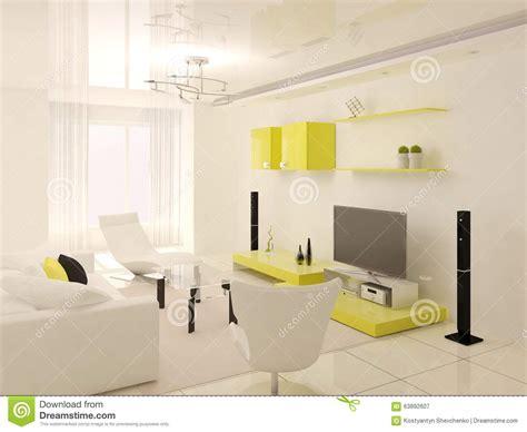 yellow modern minimalist living dining room interior design minimalist yellow living room stock illustration image