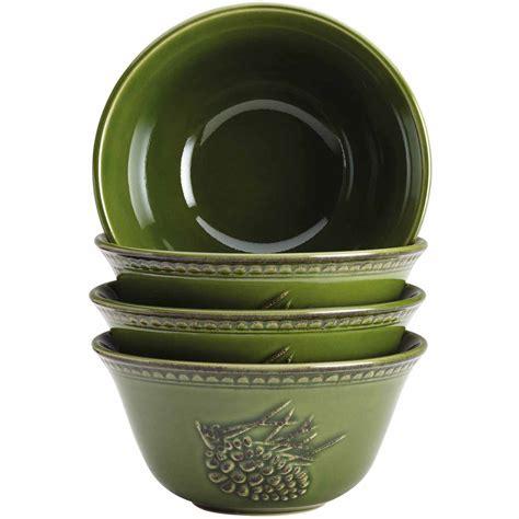walmart bowls bonjour dinnerware paisley vine 9 quot stoneware serving bowl walmart