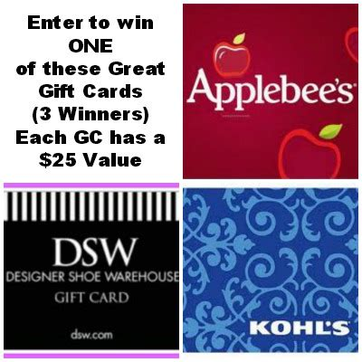 Applebee S Gift Card Balance Online - win a 25 gift card 3 winners