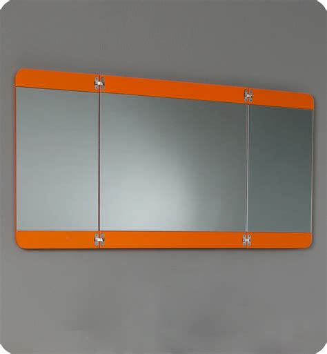 folding bathroom mirror fresca energia orange modern bathroom vanity w three