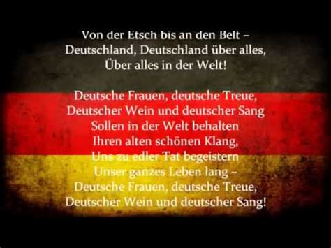 national anthem germany deutsches lied german national anthem old version