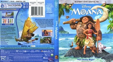 Dvd Moana moana cover labels 2017 r1