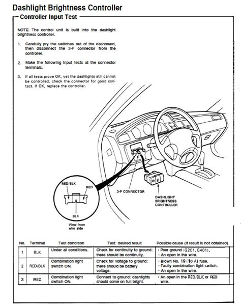 1994 honda accord lights wiring diagram wiring