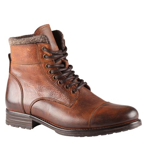 aldo timo boots in brown for cognac lyst