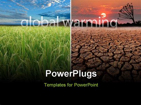 ppt themes on global warming conceptual images demonstrating the possible effect of