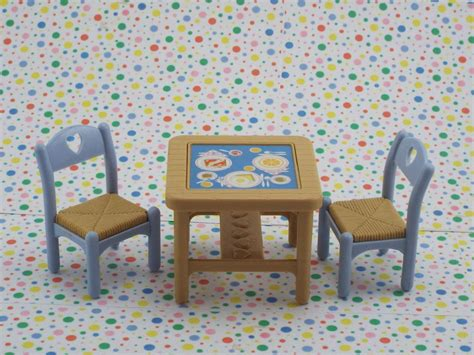 fisher price loving family dollhouse brown kitchen table