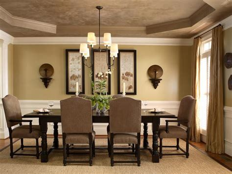 hgtv dining room ideas neutral dining room with tray ceiling hgtv