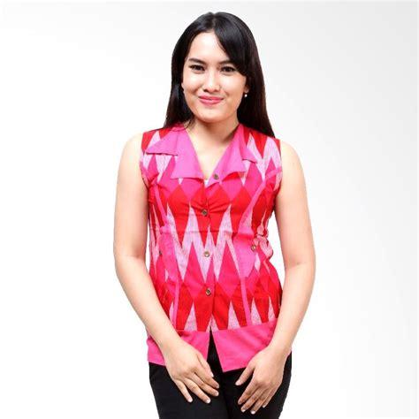 Blouse Wanita Kerah jual batik distro blus tl kerah jas ba3050 pink atasan