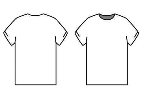 t shirt back template clipart best
